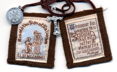 Washable Brown Scapular | The Catholic Company
